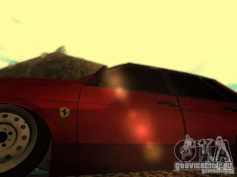 Ваз 21099 Ferrari для GTA San Andreas вид сзади