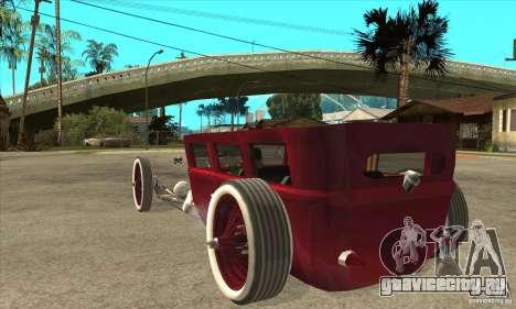 HotRod sedan 1920s no extra для GTA San Andreas вид сзади слева