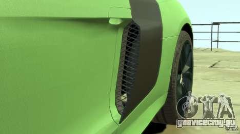 Audi R8 5.2 FSI quattro v1 для GTA 4 вид сверху