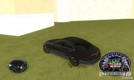 Chechen Speedometr для GTA San Andreas четвёртый скриншот