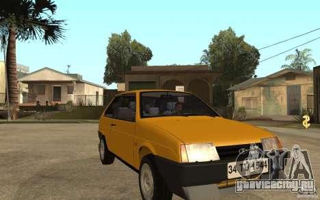 Lada Samara ВАЗ 2108 Sport для GTA San Andreas вид сзади
