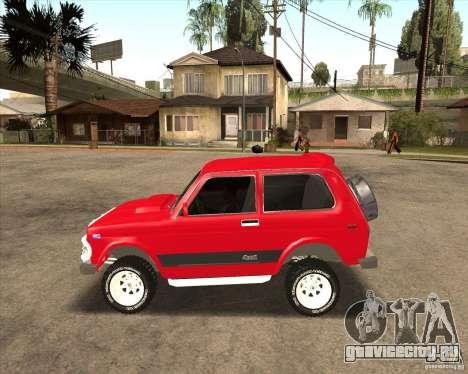 ВАЗ 21213 4x4 для GTA San Andreas вид снизу