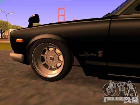 Nissan Skyline 2000GTR для GTA San Andreas вид сбоку