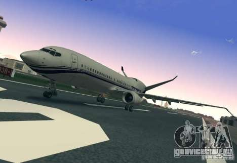 Boeing 737 Iron Man Bussines Jet для GTA San Andreas