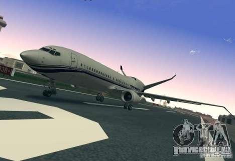 Boeing 737 Iron Man Bussines Jet для GTA San Andreas