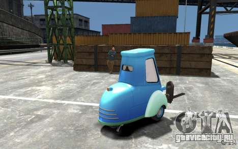 Guido из Cars Mater-National для GTA 4 вид справа