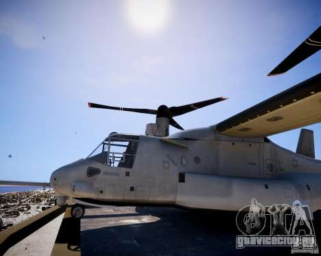 Osprey MV-22 для GTA 4 вид сзади слева