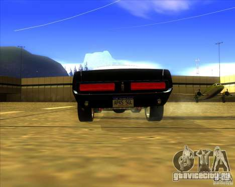 Shelby GT500 Eleanora clone для GTA San Andreas вид сзади слева