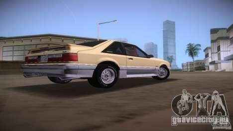 Ford Mustang GT 1993 для GTA Vice City вид сзади