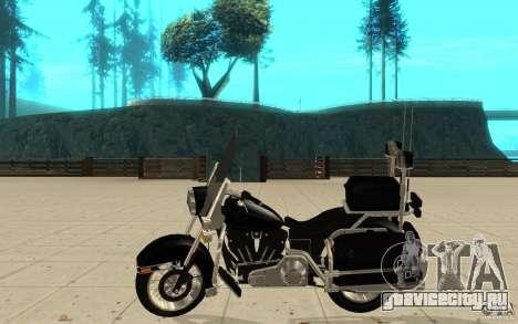 GTAIV TBOGT PoliceBike для GTA San Andreas вид слева