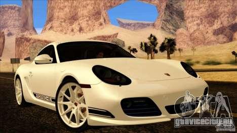 Porsche Cayman R 987 2011 V1.0 для GTA San Andreas вид сверху