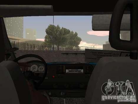 Газель Такси для GTA San Andreas вид справа