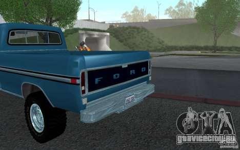 Ford F150 Ute 1976 для GTA San Andreas вид справа