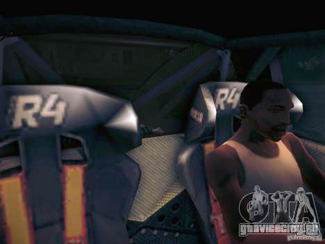 Colin McRae R4 для GTA San Andreas вид изнутри