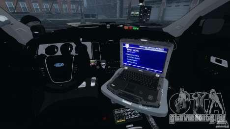 Ford Explorer NYPD ESU 2013 [ELS] для GTA 4 вид сзади