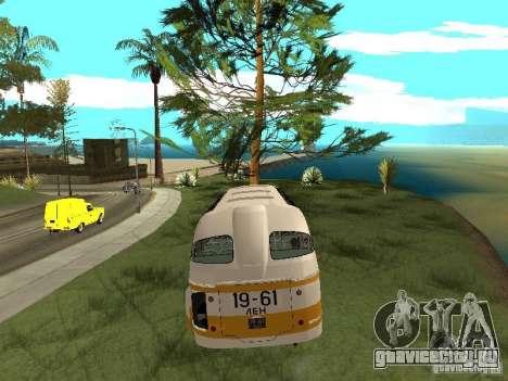 ЛАЗ 695Е для GTA San Andreas вид изнутри