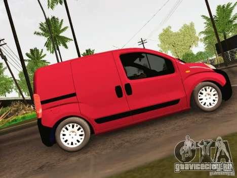 Peugeot Bipper для GTA San Andreas вид сзади