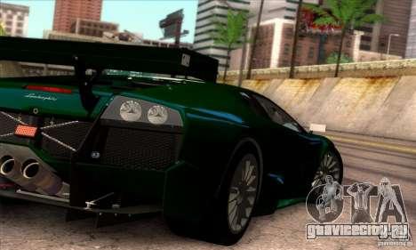 Lamborghini Murcielago R-SV GT1 для GTA San Andreas вид снизу