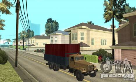 КрАЗ - 257 для GTA San Andreas вид сзади
