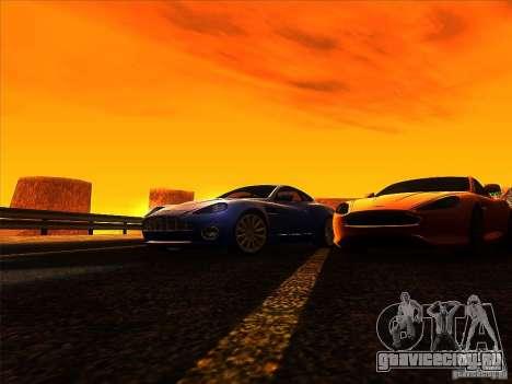 Aston Martin V12 Vanquish V1.0 для GTA San Andreas вид сверху