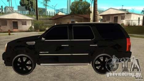 Cadillac Escalade Unique Autosport для GTA San Andreas вид слева