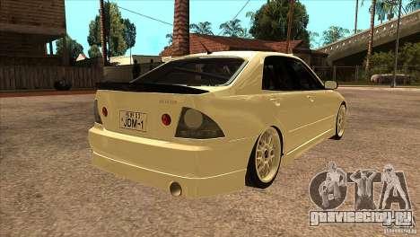 Toyota Altezza RS200 JDM Style для GTA San Andreas вид справа