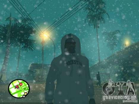 Снегопад для GTA San Andreas пятый скриншот