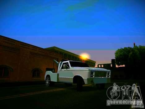 Towtruck tuned для GTA San Andreas вид изнутри