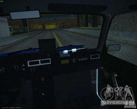 ВАЗ 2107 Полиция для GTA San Andreas вид сбоку