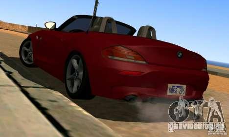 BMW Z4 2010 для GTA San Andreas вид сзади слева