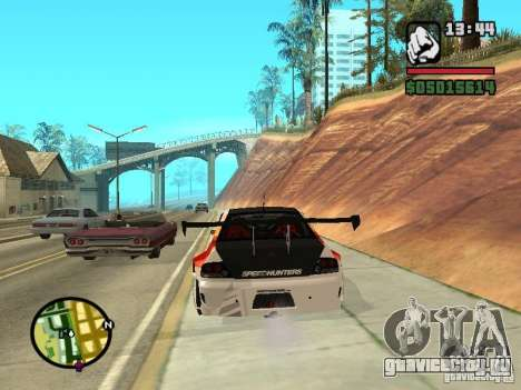Mitsubishi Lancer Evo IX SpeedHunters Edition для GTA San Andreas вид сзади слева