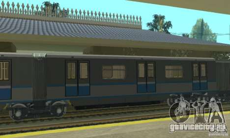 Русич 4 train для GTA San Andreas вид сзади слева