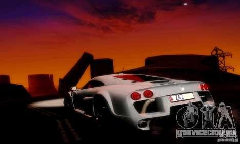 Noble M600 Final для GTA San Andreas вид снизу