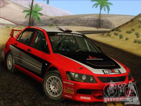 Mitsubishi Lancer Evolution IX Rally для GTA San Andreas вид сбоку