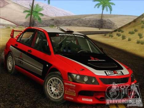 Mitsubishi Lancer Evolution IX Rally для GTA San Andreas вид сбоку