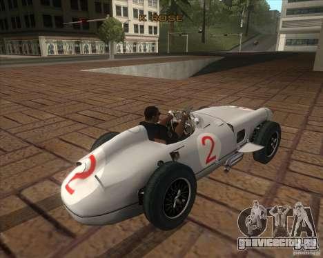 Daimler-Benz AG Juan Manuel Fangio для GTA San Andreas вид сзади слева