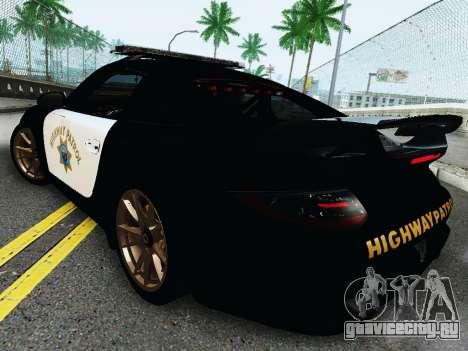 Porsche 911 GT2 RS (997) Police для GTA San Andreas вид справа