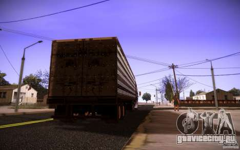 Box Trailer для GTA San Andreas вид слева