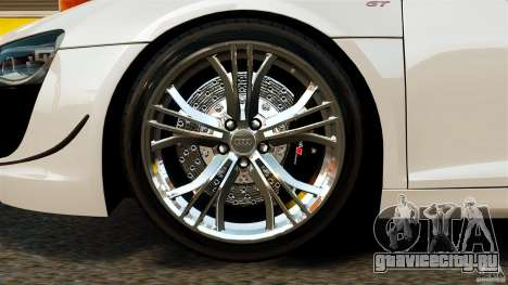 Audi R8 GT Spyder 2012 для GTA 4 вид изнутри