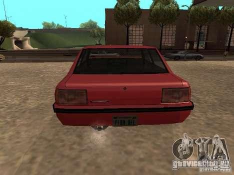Стандартный Vincent для GTA San Andreas вид сзади слева