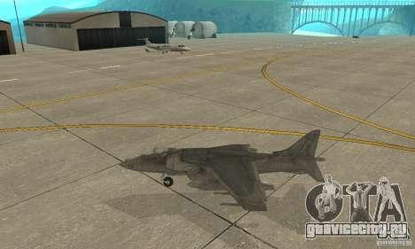 AV-8 Harrier для GTA San Andreas вид слева
