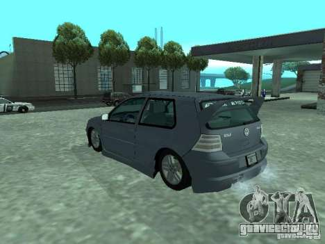 Volkswagen Golf IV для GTA San Andreas вид снизу