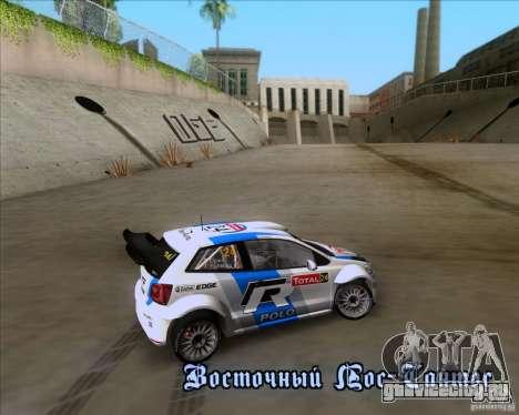 Volkswagen Polo WRC для GTA San Andreas вид изнутри