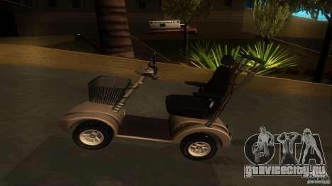 Elektroscooter - Speedy для GTA San Andreas вид сзади