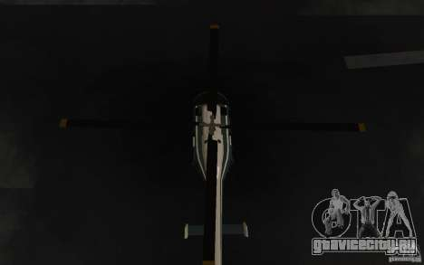 GTA IV Police Maverick для GTA San Andreas вид изнутри