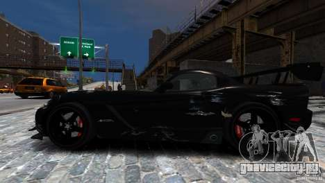 Dodge Viper SRT-10 ACR 2009 для GTA 4 вид сбоку