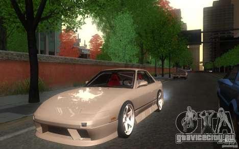 Nissan Silvia S13 Onevia для GTA San Andreas вид сзади слева