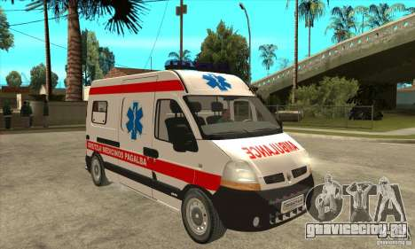Renault Master Ambulance для GTA San Andreas вид сзади