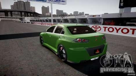 Mitsubishi Lancer Evolution X Tuning для GTA 4 вид снизу