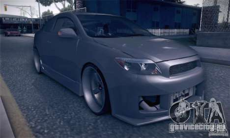 Scion Tc Street Tuning для GTA San Andreas вид сзади